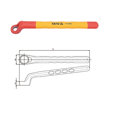 Yato YT-02334 Bi-hexagonal ring spanner 50x55mm