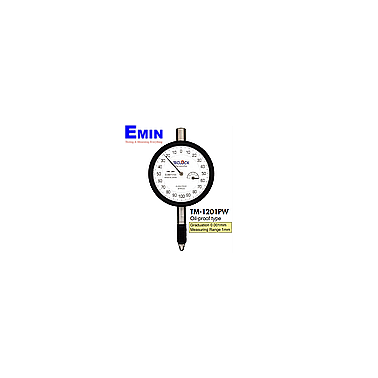 TECLOCK TM-1201PWf Dial Indicator (1mm / 0.001mm; Flat back)